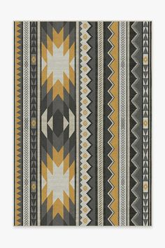 Our Yuma Yellow Grey Rug exemplifies Southwestern flair. Featuring geometric shapes tinted in high-contrast hues of neutral grey and yellow, this tribal rug is the perfect accent to enliven any room in your home. Teal Rug, Yellow Rug, Gold Rug, Pink Rug, Grey Rugs, Stone Rug, Machine Washable Rugs, Palette, Pointillism