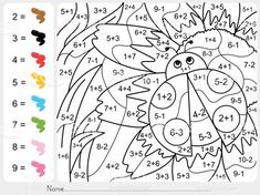 Back to School Coloring Pages . 30 Back to School Coloring Pages . Back to School Coloring Sheets Number Worksheets Kindergarten, Math Coloring Worksheets, Addition And Subtraction Worksheets, Kindergarten Colors, Printable Coloring, School Coloring Pages, Coloring Pages For Kids, Coloring Sheets, Color By Number Printable