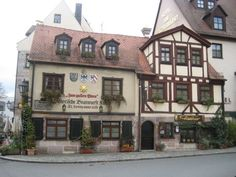 Zum Gulden Stern in Nurnberg, Germany (supposedly home of the bratwurst). We ate here and had delicious beer to wash it down with. It's so old-looking and warm and cozy inside.
