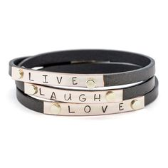 Live, Laugh and Love Bracelet