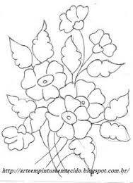 Resultado de imagem para risco de bordado flores