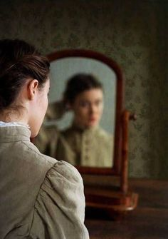 Trevillion Images - victorian-girl-looking-in-mirror Story Inspiration, Writing Inspiration, Character Inspiration, Celine Sciamma, Howls Moving Castle, Anne Of Green Gables, Pride And Prejudice, Storyboard, Fairy Tales
