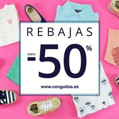 ¡¡ REBAJAS EN CONGUITOS !! -50% en ropa y -30% en calzado.  - Descuentos en toda la tienda online - Qué no se te escapen ➡ www.conguitos.es