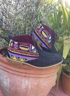 4cebbc3733c Men s Desert Boots - Chukka Boots - African Boots - Ankara - Kente - Aztec  - Tribal Print - Ethnic Clothing - Vegan - Hand Painted Shoes