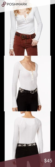 Free People  sugar & Spice Henley top Free People  sugar & Spice Henley top ivory NWT retail 68 plus Tax $75.00 no low ball offers Free People Tops Tees - Long Sleeve