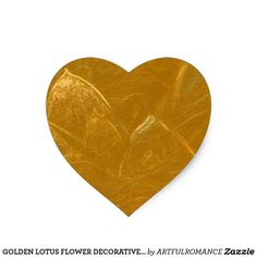 GOLDEN LOTUS FLOWER DECORATIVE GIFTS HEART STICKER