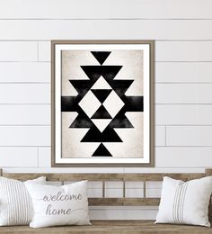 Black Aztec Print For Your Western Home Decor Minimalist Wall Art, Aztec Wall Art, Western Nursery, Nursery Paintings, Country Nursery Decor, Southwestern Decorating, Rose Gold Decor, Western Home Decor, Prints