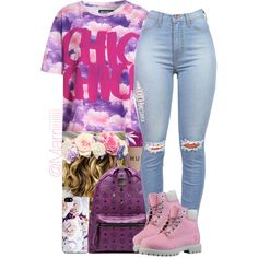 First day of school, created by trill-forlife on Polyvore