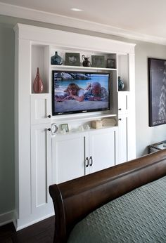 built in for living room? Or master room with a fireplace under the TV?