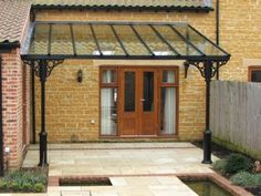A x Verandah on a barn conversion in Leicestershire, providing sheltered outdoor space in a superbly landscaped garden. House Canopy, Porch Canopy, Garden Canopy, Canopy Outdoor, Outdoor Pergola, Garden Walls, Outdoor Shade, Backyard Patio, Gazebo