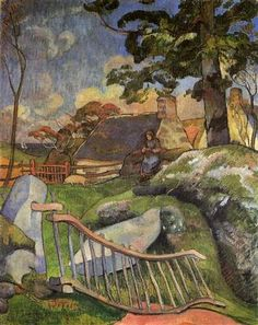 The Wooden Gate  -  Paul Gauguin 1889  French 1848-1903