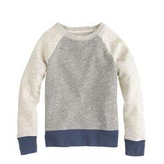 Boys' colorblock sweatshirt - impractical color, but so cute!
