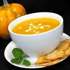Butternut and acorn squash soup -- my favorite. Read the comments to learn how to tweak the recipe to suit your tastes.