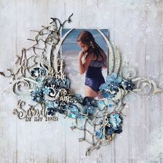 """Tina Marie - Forever and Always: """"Salt in the air and Sand in my Hair"""" 49andMarket / Dusty Attic DT creation"""