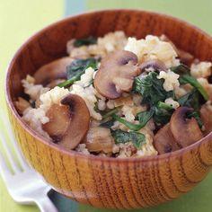 Caramelized Onion, Mushroom and Bulgur Pilaf