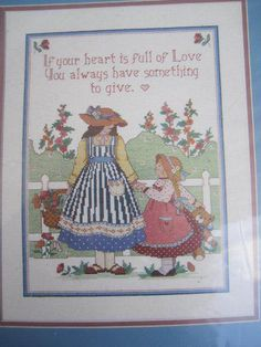 See Sally Sew-Patterns For Less - A Lasting Gift Cross Stitch Kit From The Heart 53524 Needlepoint Kit , $24.99 (http://stores.seesallysew.com/a-lasting-gift-cross-stitch-kit-from-the-heart-53524-needlepoint-kit/)
