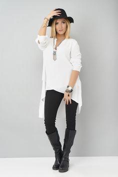 Une tenue classe et tendance à la fois #maxishirt