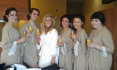 Bridal Party Robes Custom made to order by KalliAlbaBridal on Etsy, $40.00  Made these for a bridal party!! :) LOVED IT! They look fabulous!!!!