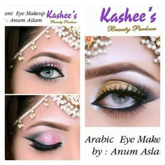Kashee 's beauty parlour Beautiful Eye Makeup, Beautiful Eyes, Hair Styls, Makeup Ideas, Makeup Tips, Arabic Eyes, Eye Makeup Steps, Indian Makeup, Makeup Step By Step