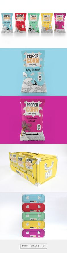 PROPERCORN Brand Evolution, redesigned in-house by the company. Pin curated by #SFields99 #packaging #design