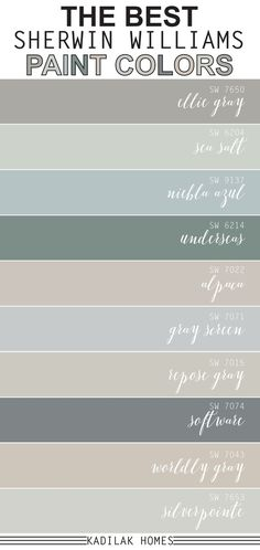We put together our top 10 most popular Sherwin Williams paint colors! These paint colors are sure to inspire your next room makeover. interior living room paint colors The Best Sherwin Williams Paint Colors Farmhouse Paint Colors, Paint Colors For Home, Best Bathroom Paint Colors, Top Paint Colors, Paint Colors For Bedrooms, Living Room Paint Colors, Country Paint Colors, Most Popular Paint Colors, Nursery Paint Colors
