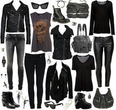 so much Black I love it, mulitiple outfits with only a few pieces