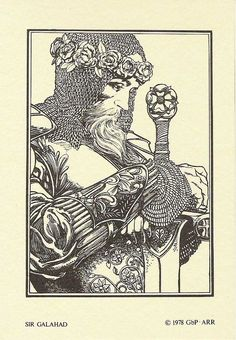 Sir Galahad 1978 Excalibur Portfolio Art Illustration by Barry Windsor-Smith