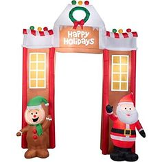 Fun 106 Airblown Inflatable Gingerbread Archway Christmas Inflatable * Check out the image by visiting the link.