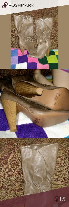 Brown boots Good condition Brown heel boots. Worn 1 or 2 times size 7 Shoes Heeled Boots
