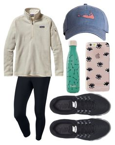 """""""Read d"""" by emmacaseyyyy ❤ liked on Polyvore featuring NIKE, Harding-Lane, Patagonia, Sonix, S'well, women's clothing, women, female, woman and misses"""