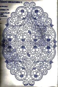 Photo from album Bobbin Lace Patterns, Doily Patterns, Macrame Patterns, Embroidery Stitches, Embroidery Patterns, Hand Embroidery, Irish Crochet, Crochet Motif, Romanian Lace