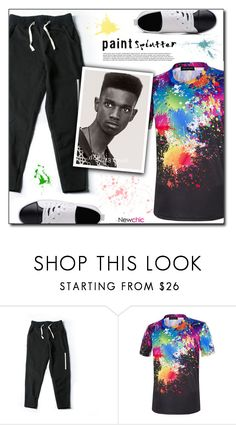 """""""Newchic (4/VII)"""" by dorinela-hamamci on Polyvore featuring men's fashion and menswear"""