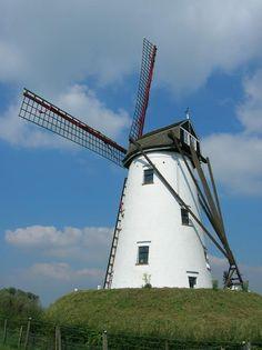 Wind Mill in Damme, Adegem, Belgium