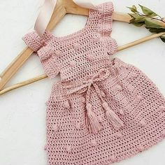 Crochet Motif Patterns Baby Patterns Crochet Designs Knit Baby Dress Crochet For Kids Crochet Baby Crochet Fashion Toddler Outfits Kids Outfits Baby Girl Crochet, Crochet Baby Clothes, Crochet For Kids, Knit Crochet, Crochet Dress Girl, Knit Baby Dress, Booties Crochet, Baby Cardigan, Crochet Hats
