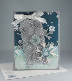 """card christmas snowflakes - """"Hello Winter"""" echo park paper pad - card christmas - Falling Wishes   pour toi   Cindy Major - #EchoParkPaper"""