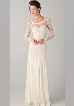 A dreamy lace dress by Temperley London would make for exquisite vineyard wedding apparel
