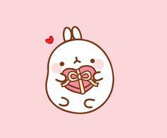 #molang #kawaii  --  Happy Valentine's Day Kawaii Bunny, Cute Kawaii Animals, Kawaii Doodles, Cute Kawaii Drawings, Valentines Day Drawing, Happy Valentines Day, Cute Illustration, Character Illustration, Hello Kitty