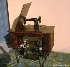 Antigüedades: PRECIOSA MÁQUINA DE COSER SINGER MODERNISTA ORIGINAL - Foto 2 - 75825187