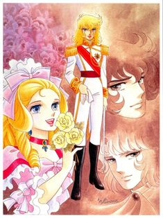 "Getting my old school on and watching ""The Rose of Versailles""...Original manga by Riyoko Ikeda"