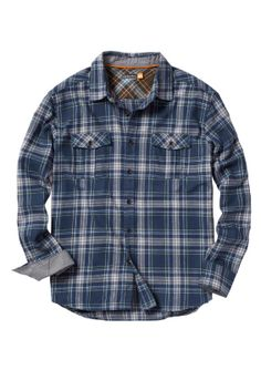 Shop Wamberal L/S Flannel by Quiksilver (#AQMWT00021) on Jack's Surfboards