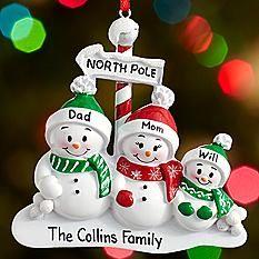 North Pole Family Ornament