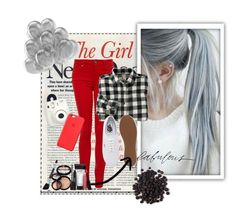 """""""The Girl Next Door."""" by minnanavy ❤ liked on Polyvore featuring Paige Denim, Woolrich, Vans, Laura Geller and Apple"""