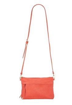 Summer Colors: coral crossbody bag or clutch with hidden zipper pocket #maurices
