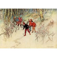 The Fairy Book 1913 Hop-o-my-thumb Canvas Art - Warwick Goble (18 x 24)