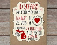 5 Year Anniversary One Wedding Paper Husband Fiance Boyfriend Wife 5th Typography Wf370