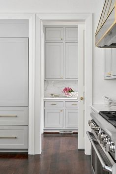Cool gray cabinets