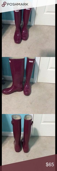 Hunter Boots Women's size 8. Gently worn; minimal scuffs on inside ankle. Hunter Boots Shoes Winter & Rain Boots