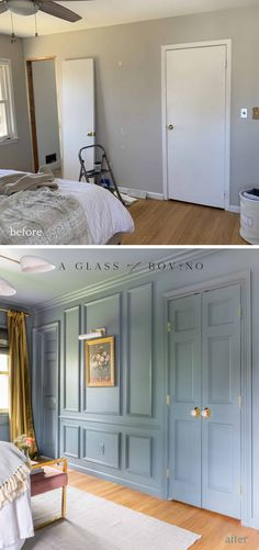 before and after a glass of bovino - master bedroom - not boring bedroom
