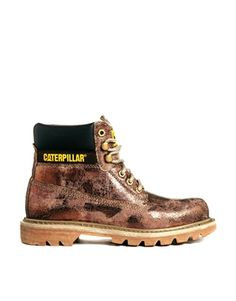 Enlarge Caterpillar Colorado Bronze Foil Ankle Boots