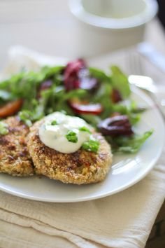 Crispy Cauliflower Cakes #recipe #healthy